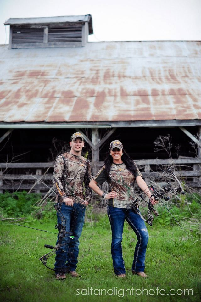 Country Engagements | Salt & Light Photography #barn #field #wedding #photographer #love #camo #hunting #bows