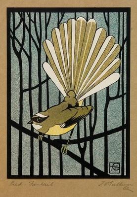 Pied Fantail, Thomas Gulliver, 1919, 1932/3/3 #EasyPin