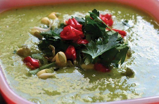 Spicy avocado soup recipe