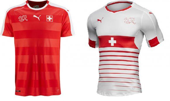 Новая форма Швейцарии от Puma сочетает в себе традиционный красный и белый цвет национальной команды. Выездной комплект имеет другой дизайн с применением основного белого цвета и креста с национального герба страны посредине.