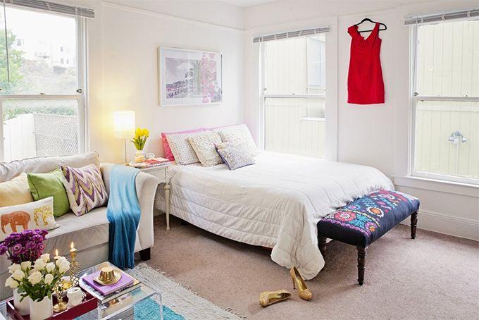 Decoração de pequenos espaços: um studio feminino, delicado e caprichoso nos detalhes - Casinha Arrumada