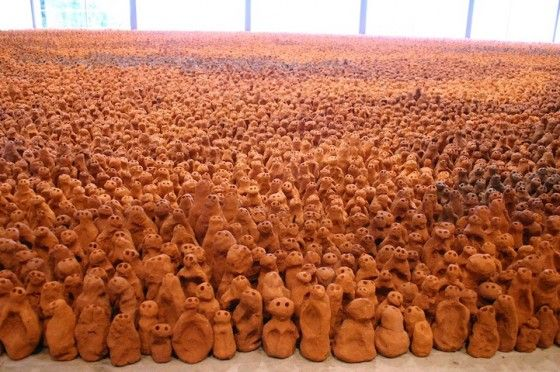 Antony Gormley and his 15 year taking clay project...
