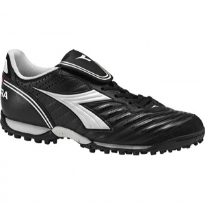 Diadora Scudetto LT TF Soccer Cleats Mens Black Leather - ONLY $56.95
