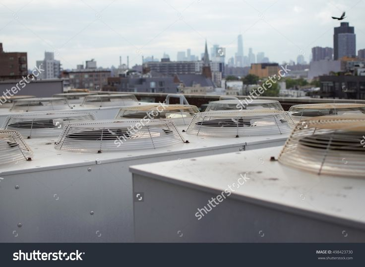 Cooling Units On Roof With City In The Background Fotka: 498423730 : Shutterstock