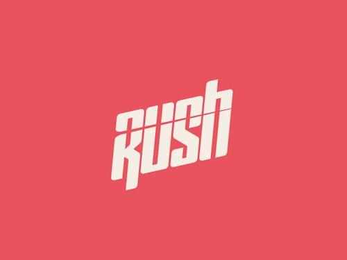 trendgraphy:Rush Logotype Animation by Gwénolé Jaffrédou Twitter: @visualvibs
