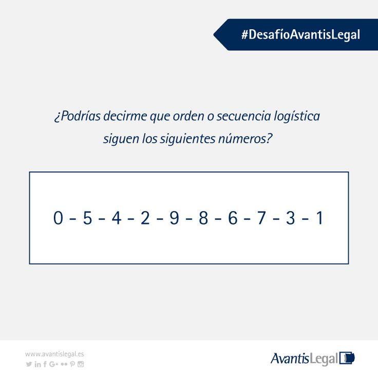 Para el día de hoy os dejamos  #DesafíoAvantisLegal ¿Crees que puedes encontrar la solución?