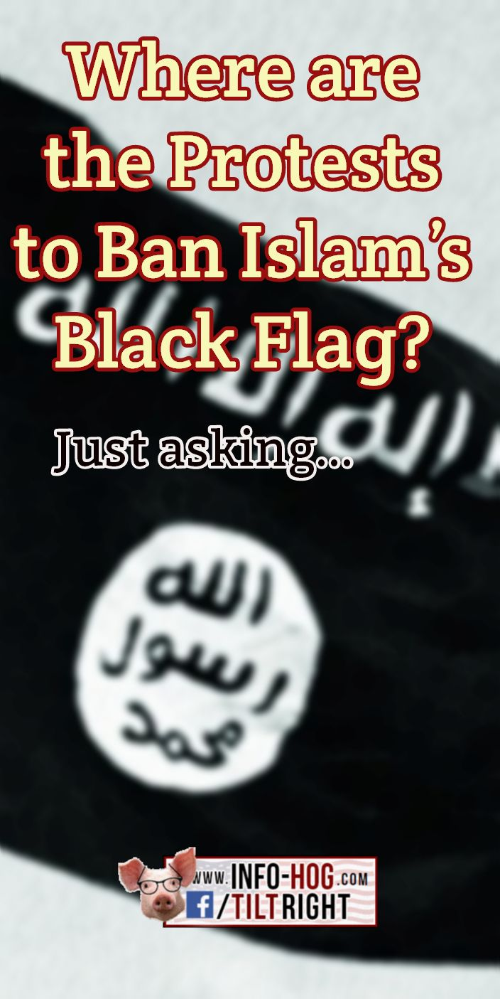 Where are the Protests to Ban Islam's Black Flag? When we get rid of the moslem in Chief - Obama.