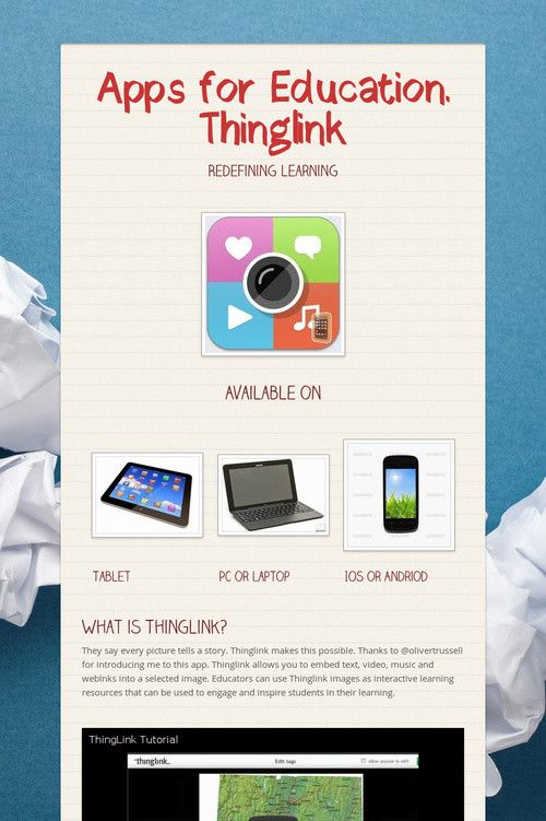 Apps for Education. Thinglink