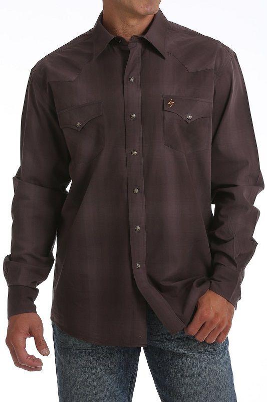 Garth Brooks Sevens by Cinch Brown Plaid Shirt