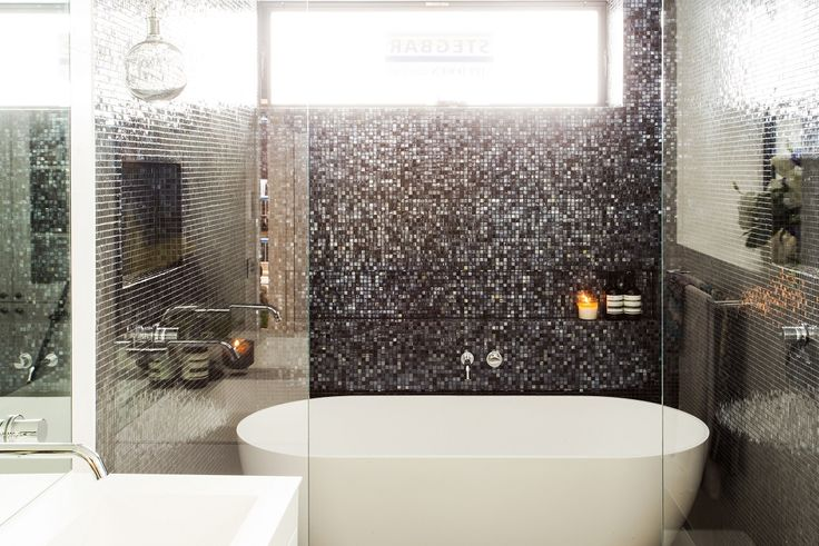 Darren & Deanne used the Concrete Fuse Porcelain Lappato, Satin White, and the Mosaic Glass Candy Black Ice tiles for their winning bathroom on The Block Triple Threat. For more bathroom inspiration from Beaumont Tiles, visit: http://www.beaumont-tiles.com.au/Room-Ideas/Bathrooms