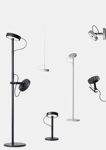 U-TURN Desk-mounted luminaires | BELUX