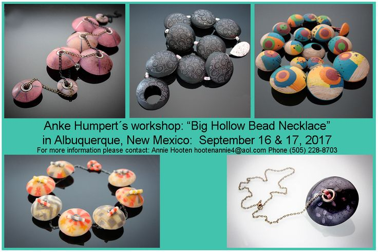 I will be teaching my big bead class in Albuquerque (Sep. 16-17, 2017). Spaces are limited so please let us know if you plan to join us! Contact Annie Hooten (hootenannie4@aol.com) for more information and to book your space, please!