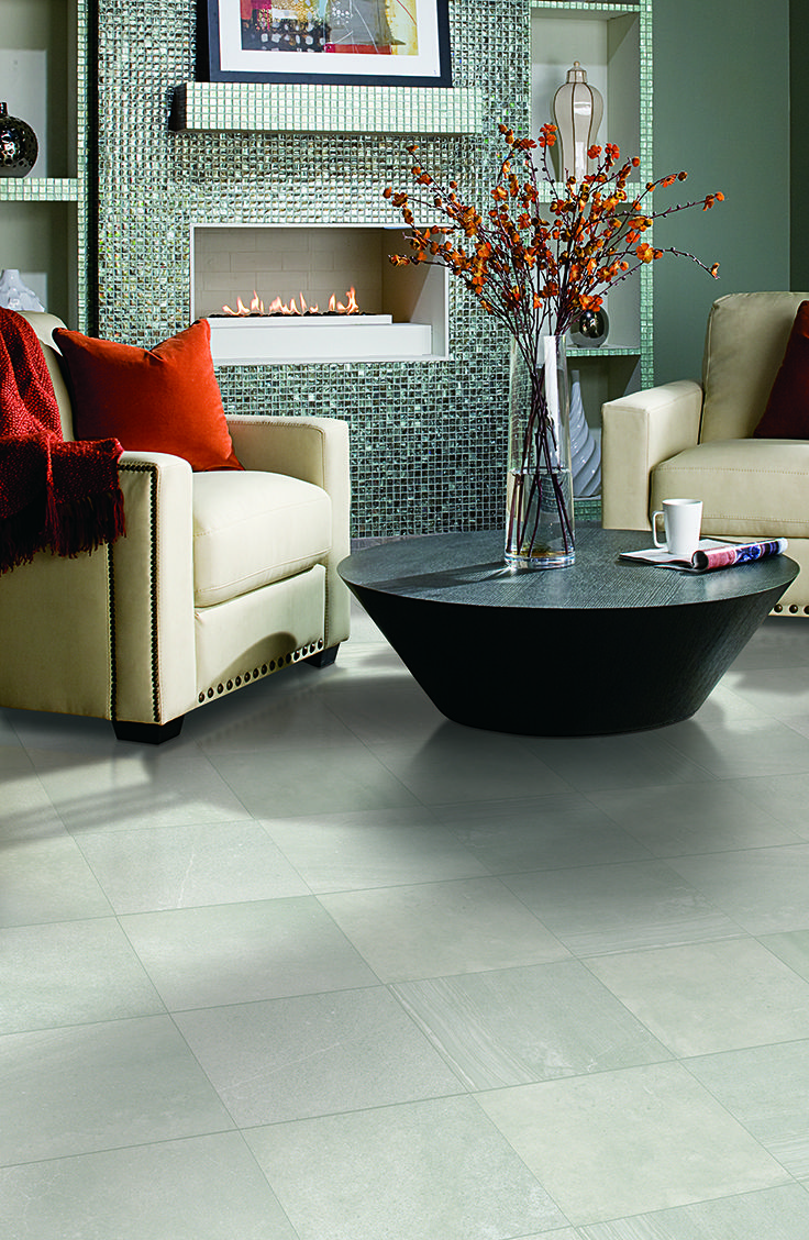 Mohawk flooring 39 s vannaire tile in ramage grey tile for Mohawk flooring locations