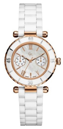 Guess Collection GC I42004L1 Diver Ceramic Chrono Women's Watch