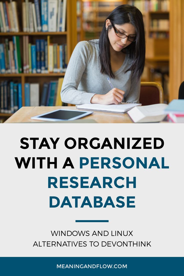 Meaning and Flow - Stay organized with a personal research database Windows and Linux alternatives to DEVONthink