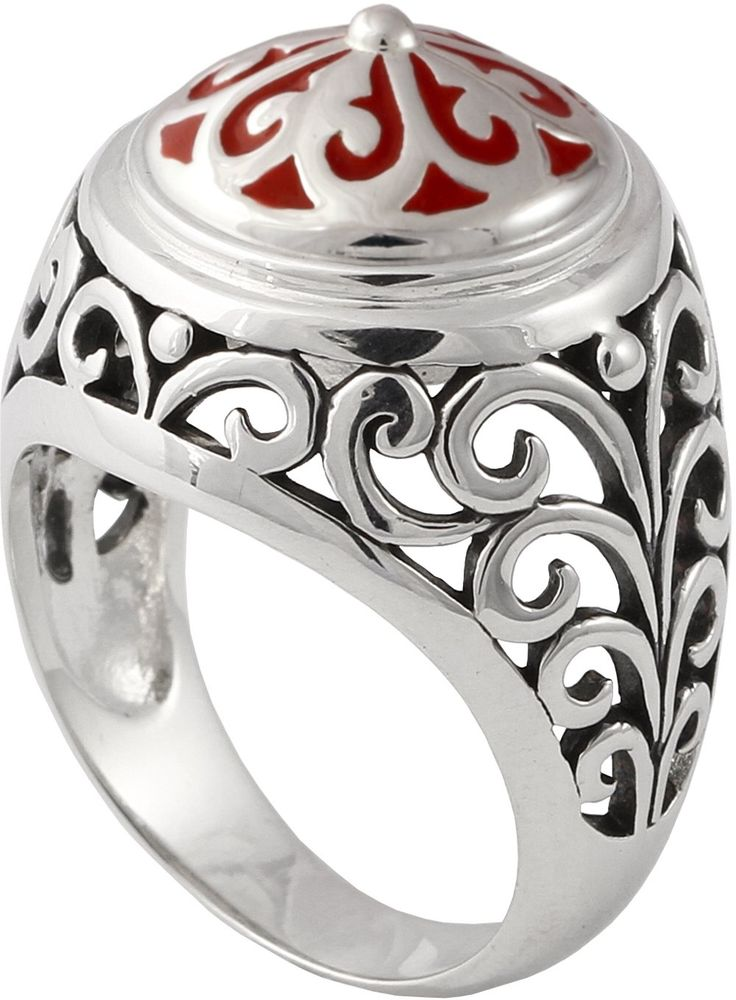 Kameleon Shank Ring KR6-9 (JewelPops Sold Separately). This beautifully ornate filigree ring is a dramatic addition to any wardrobe. Kameleons Shank ring boasts super fine detailed sterling silver set around a JewelPop docking station. Bring some class to your everyday look with this adoring jewelry design!.