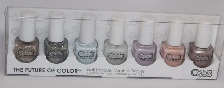 COLOR CLUB Nail Lacquer Set of 7- METALLIC, GRADIENT, BRIDAL, NEON PASTEL #ColorClub