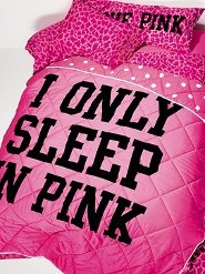 Victoria Secret bedding.