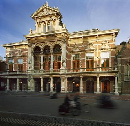 Stadsgehoorzaal, Breestraat, Leiden. Bouwjaar: 1890-1891, Architect: D.E.C. Knuttel