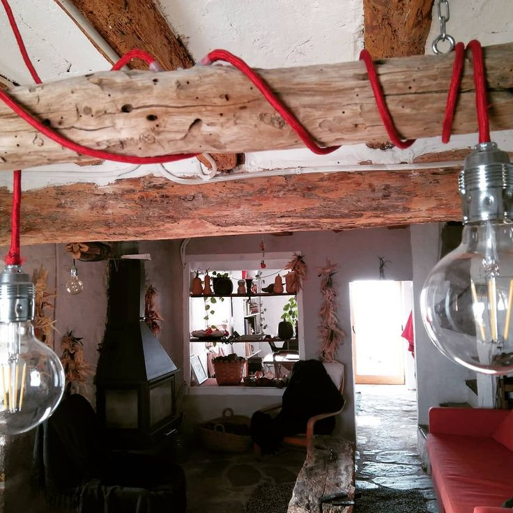 "25 Likes, 2 Comments - Susanna Altarriba (@cal_centelles) on Instagram: ""Lamp mare by me. @cal_centelles #lamp, #rustic, #LED bulbs, #energy saving"""