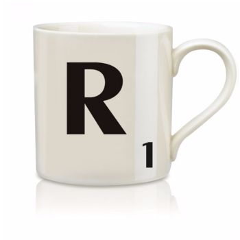 Scrabble Mug R: Scrabble mugs – collect the set for when you have 25 friends round for tea.