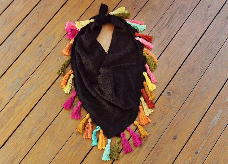 Make Your Own Tassel Scarf | A Beautiful Mess