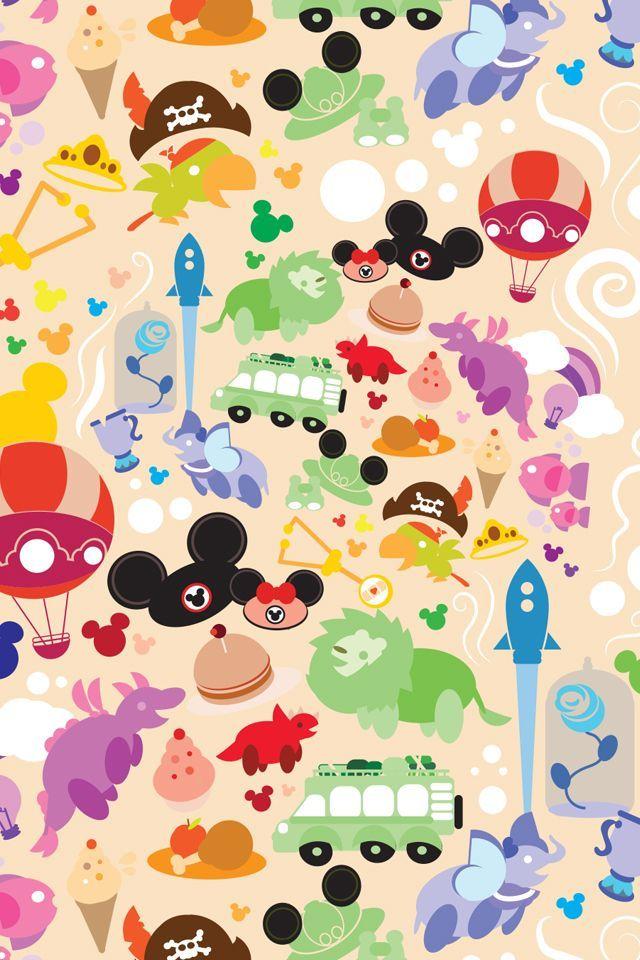 ディズニーランドの世界みたい♡ ディズニー背景のイラスト