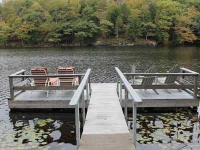 Would love to live on a lake someday with our own dock. One can dream.