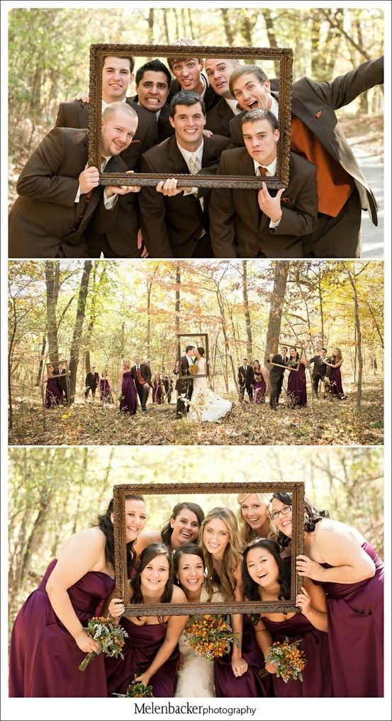 Use frame for photos before the wedding and for the guests at the reception.