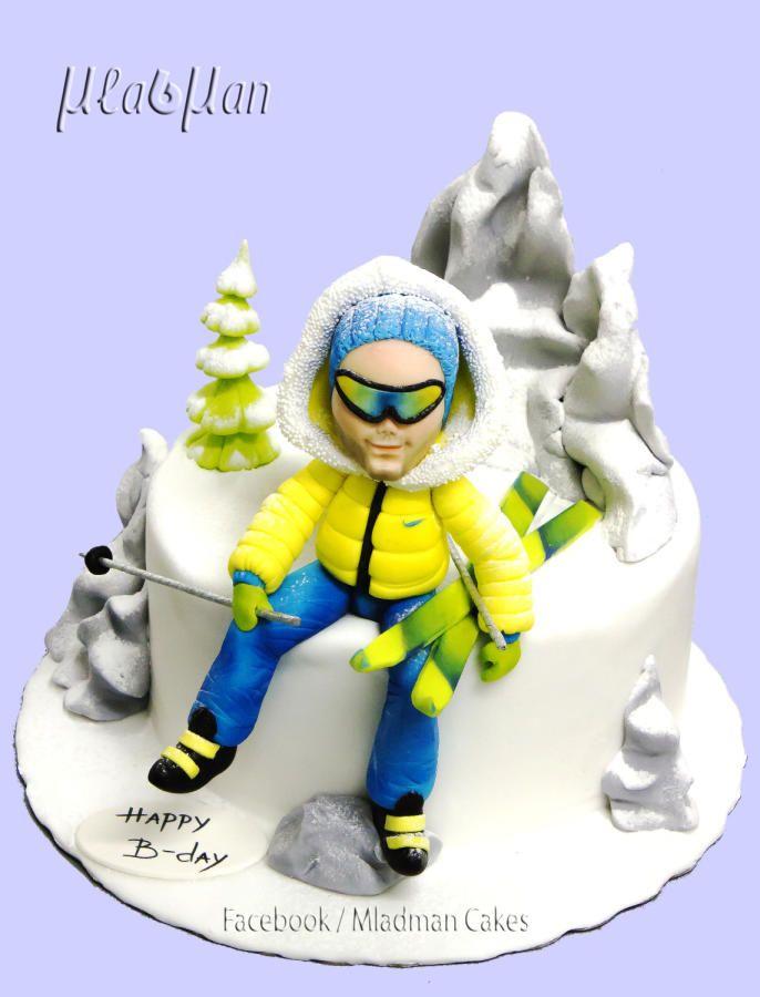 Skier Cake - Cake by MLADMAN