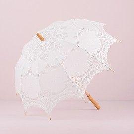 Ombrello parasole merletto bianco - standard