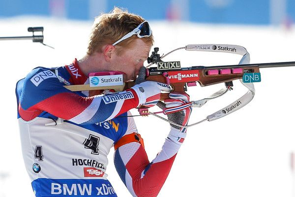 Johannes Thingnes Boe of Norway wins the silver medal during the IBU Biathlon World Championships Men's and Women's Mass Start on February 19, 2017 in Hochfilzen, Austria.