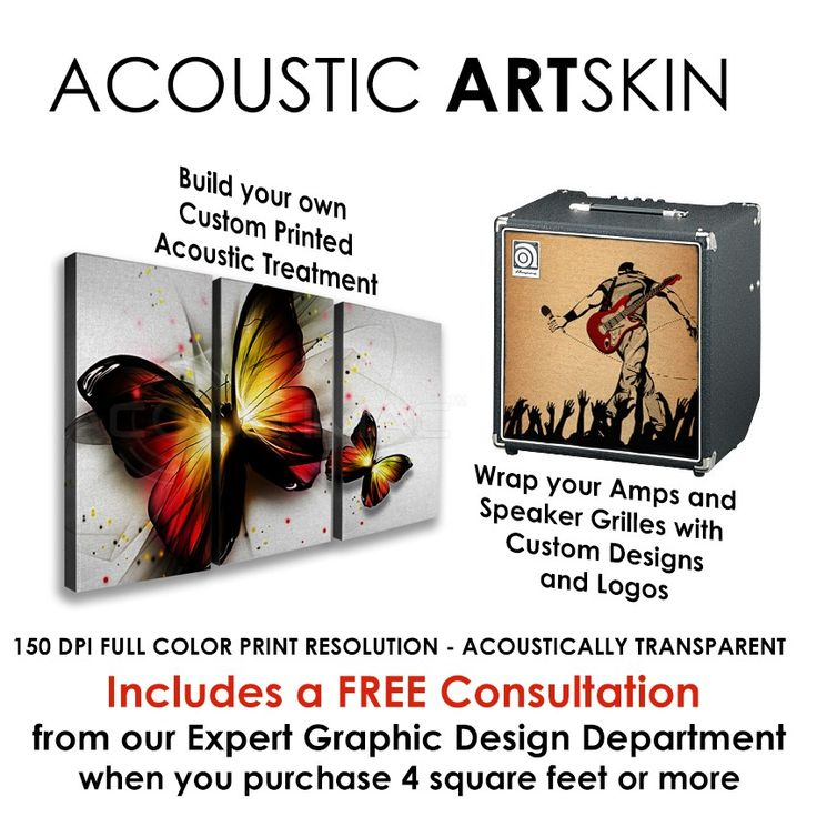 Acoustic ARTSKIN - Custom Printed Acoustic Fabric by the square foot.