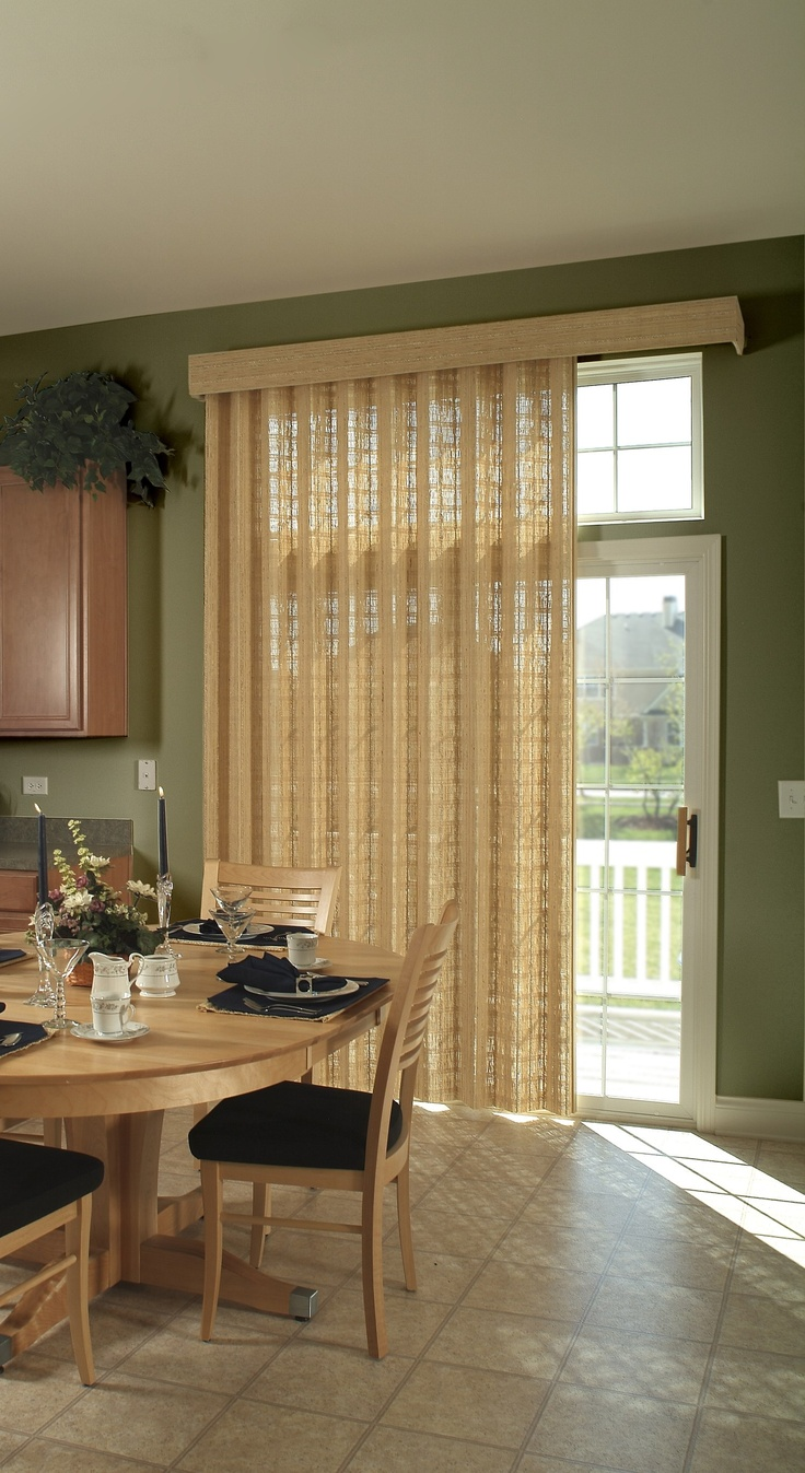 122 best doors images on pinterest balcony bedroom and for Window treatments for sliding doors in kitchen