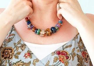Glass pendants ... Glass works by Anita B. Carroll