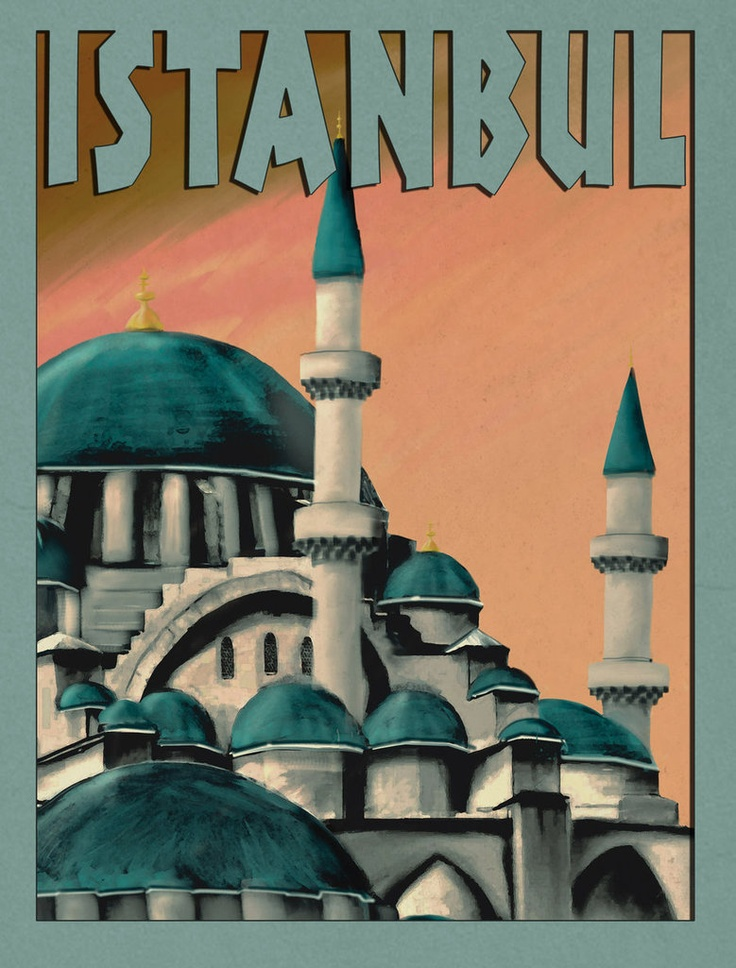 Old school poster of Istanbul