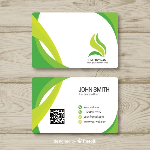 Business Card Template In Flat Style Glossy Business Cards Business Card Template Vertical Business Card Template