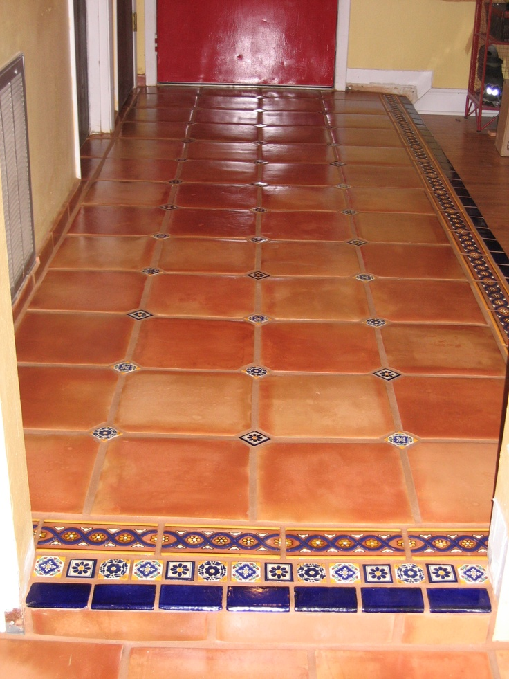 Mexican terracotta tile