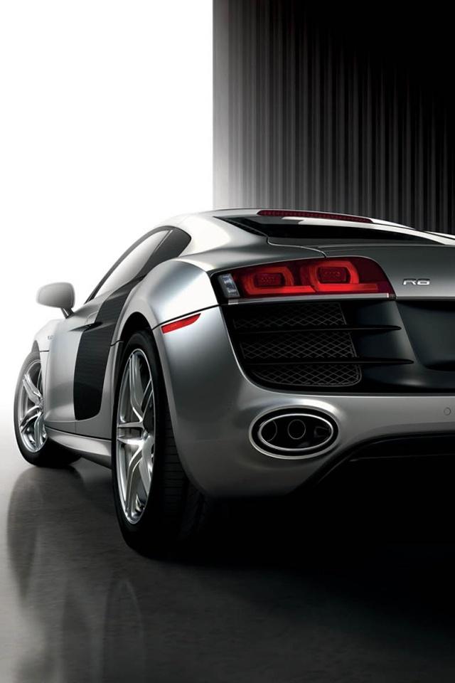 silver car Audi R8