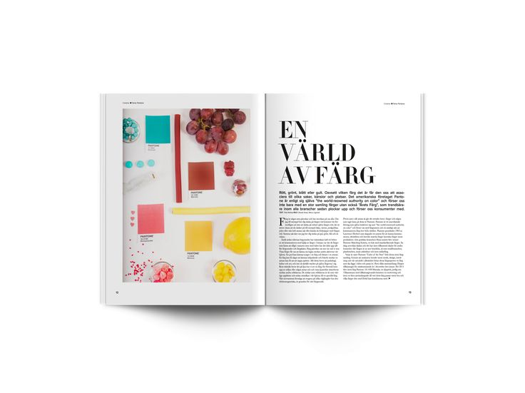 Creative dot magazine part 4 // School project with Emmeli Ahlander, Frida Bäcklund and Rebecca Lagerstedt. // Concept, layout, content, printing - everything!