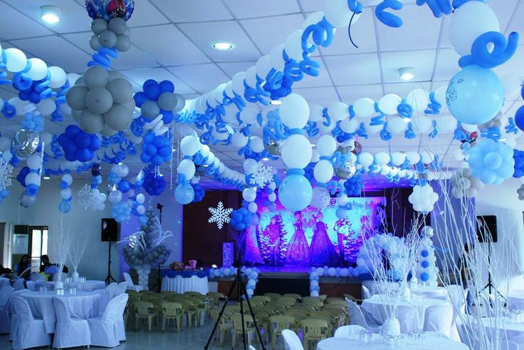 Venue Set Up Frozen Themed Birthday Party Pinterest