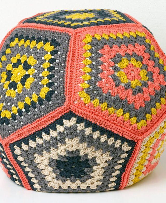 Crocheted floor cushion so cool!