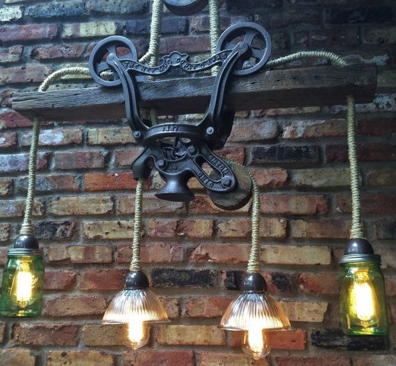 Industrial Light Rustic Chandelier Lighting by RareRusticRelics, $549.00