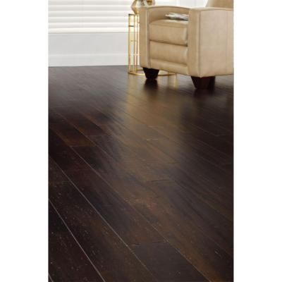 Home Decorators Collection Handscraped Strand Woven Warm Espresso In. X 36  In. Click Engineered Bamboo Flooring   The Home Depot