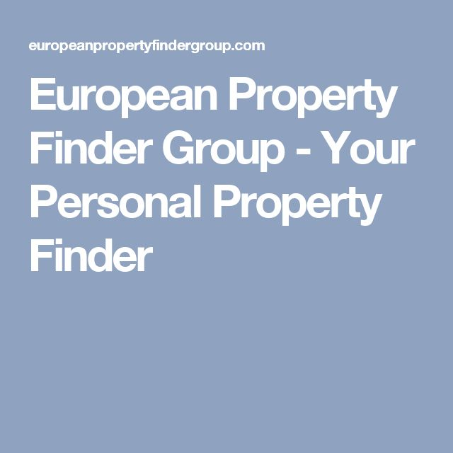 European Property Finder Group - Your Personal Property Finder