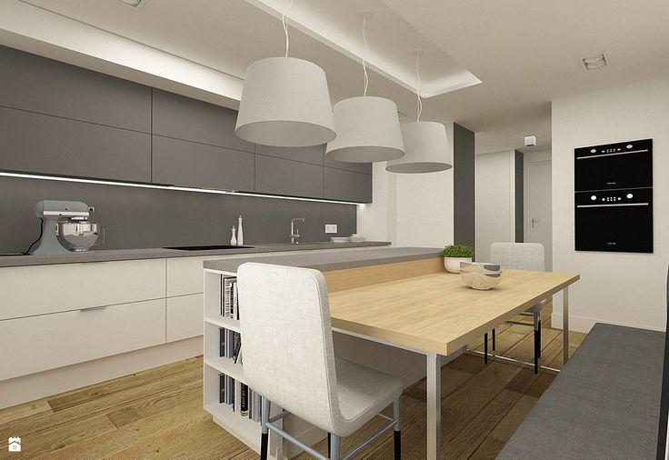 Nowoczesna kuchnia w apartamencie w Tomaszowie Mazowieckim - Kuchnia - Styl Nowoczesny - design me too