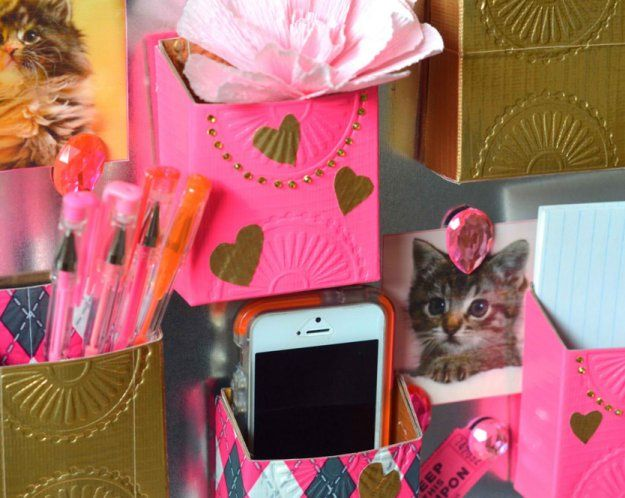 Duct Tape Locker Pockets   17 DIY Locker Decorations, see more at: http://diyready.com/17-diy-locker-decorations/