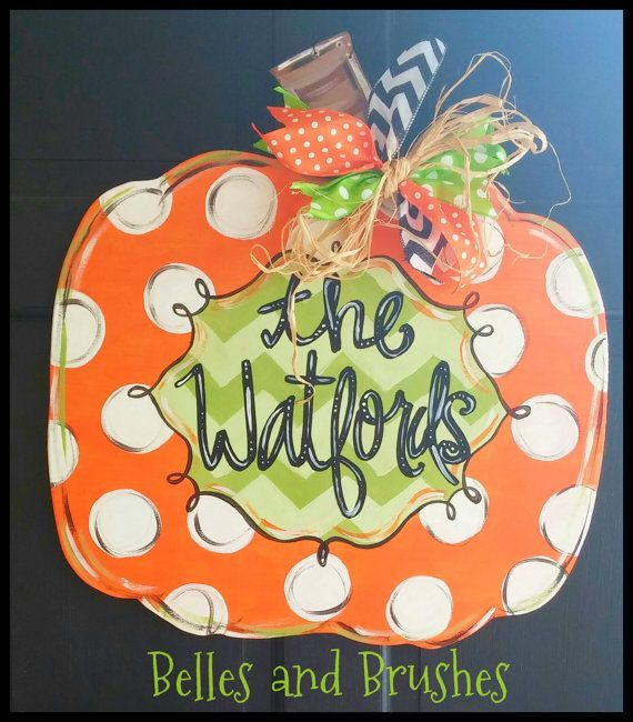 ... ://www.etsy.com/listing/201377169/wooden-pumpkin-door-hanger-for-fall