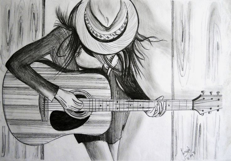 Contour Line Drawing Guitar : ✧ alexgirl drawing drawings