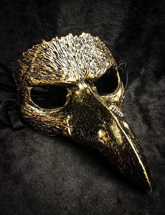 Raven mask masquerade mask costume mask fantasy by FxshopStudio